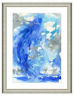 "Watercolor Abstract Print I- 22"" x 26"" - Framed (Silver) - One Kings Lane"