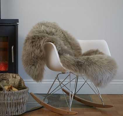 Stunning soft taupe coloured sheepskin rug - Etsy