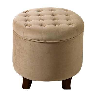 Round Storage Ottoman - Tan - Wayfair
