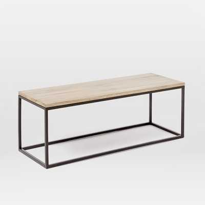 Box Frame Coffee Table - Whitewash, Narrow - West Elm