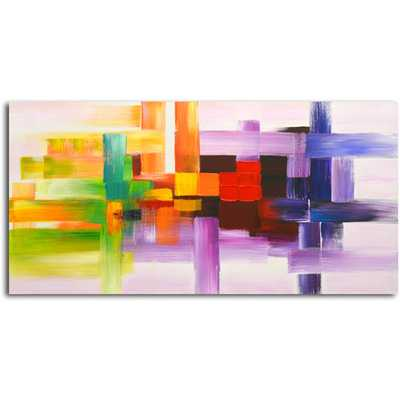 "Derivitives of Color Original Painting on Canvas - 24"" H x 48"" W x 1"" D - Unframed - AllModern"