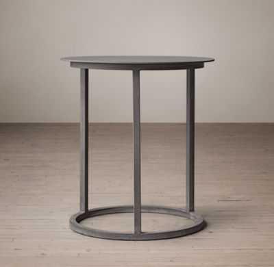 MERCER ROUND SIDE TABLE - RH