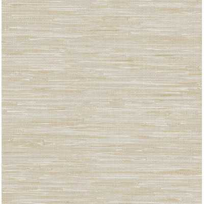 "Ami Faux Grasscloth 33' x 20.5"" Geometric Wallpaper - Wayfair"