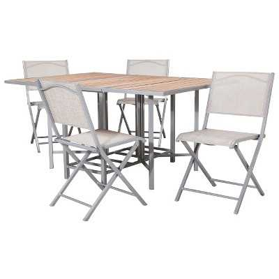 "Bryant 5-Piece Sling Stowable Folding Patio Dining Furniture Set - Thresholdâ""¢ - Target"