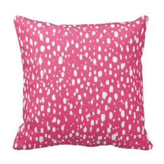 Hot Pink and White Abstract Scattered Dots Throw Pillow - zazzle.com