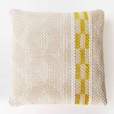 "Diamond Color Stripe Pillow Cover - Citrus Yellow - 20""sq. - Insert sold separately - West Elm"