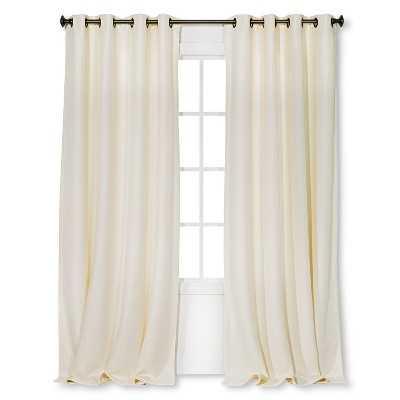 "Basketweave Curtain Panel - Cream -  54"" W x 95"" L - Target"