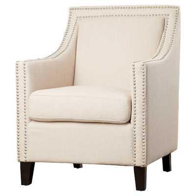 Bucktown Nailhead Arm Chair - Beige - AllModern