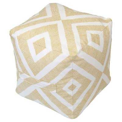 "Outdoor Fabric Pouf - Metallic Gold Geo - Thresholdâ""¢ - Target"