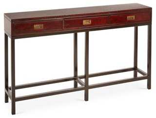 Embossed-Leather Console - One Kings Lane