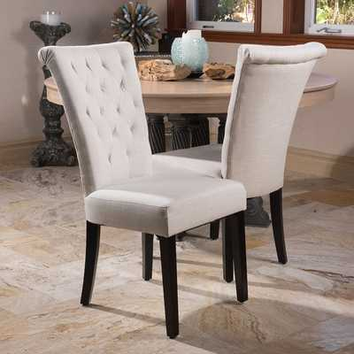 Venetian Dining Chair - Set of 2, Champagne Velvet - Overstock