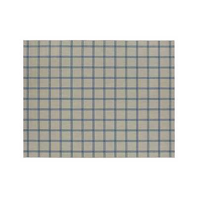 Koen Grid Sky Indoor-Outdoor Rug - 8'x10' - Crate and Barrel