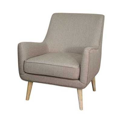 Faris Upholstered Accent Chair - Taupe - Apt2B