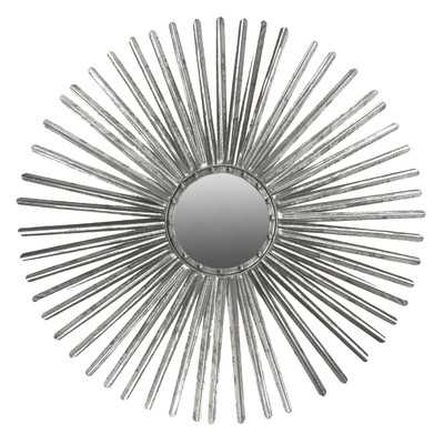 Corisande Wall Mirror - Silver - Wayfair