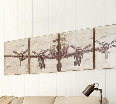 PLANKED AIRPLANE PANELS - SET OF 4 - Pottery Barn