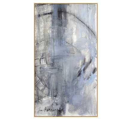 "Orbit Study #2 Wall Art - 33"" x 60"" - Natural Frame - Pottery Barn"