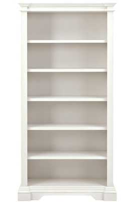 BUFFORD 5-SHELF OPEN BOOKCASE - Rubbed Ivory - Home Decorators