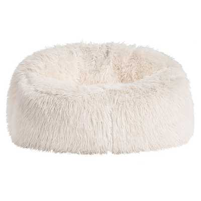 Ivory Furlicious Faux Fur Cloud Couch - Pottery Barn Teen