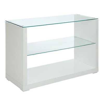 Shura Contemporary High Gloss Sofa Table - White - Overstock