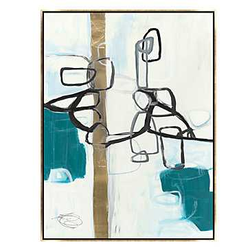 Possibility 2 - 34''W x 36''H - gold frame - Z Gallerie