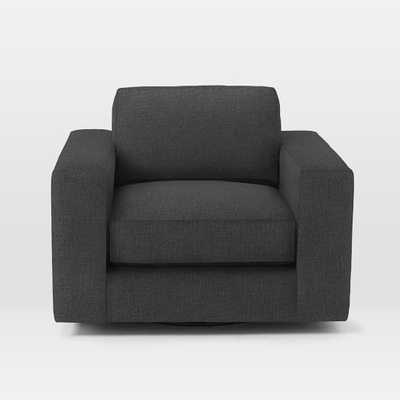 Urban Swivel Chair - Pebble Weave, Charcoal - West Elm