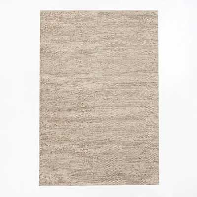 Mini Pebble Wool Jute Rug - Natural/Ivory - 5' x 8' - West Elm