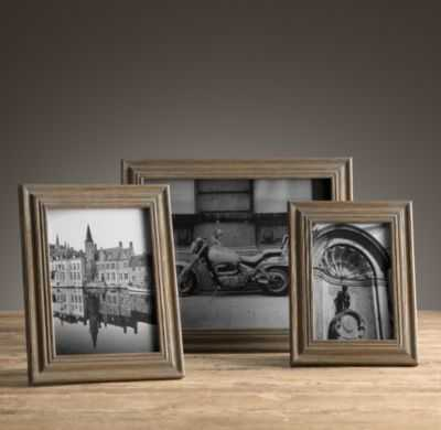 WEATHERED OAK STEPPED TABLETOP FRAMES - RH