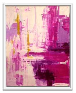 """Linda Colletta, Raspberry Rapture - 34"""" x 42"""" - Framed (White) - One Kings Lane"""