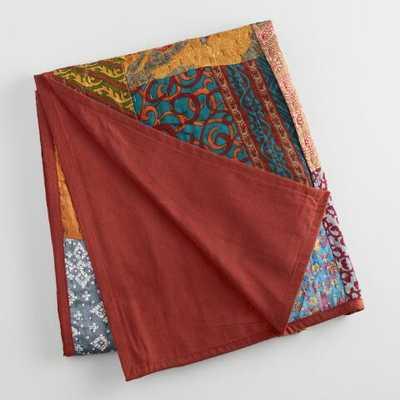 Kantha Sari Patchwork Throw - World Market/Cost Plus
