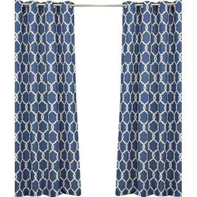 """Totten Key Trellis Outdoor Single Curtain Panel-84""""x52"""" - Wayfair"""