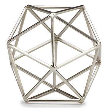 Hexadome Sphere- Nickel - Z Gallerie