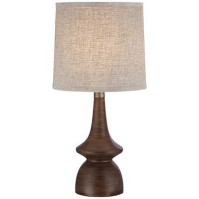 Rexford Mid Century Walnut Table Lamp - Lamps Plus