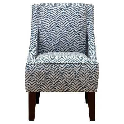 Hudson Swoop Arm Chair - Diamond Chevron - Target