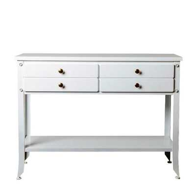 Seabrook Console Table - White - Wayfair