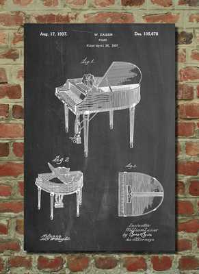 Wurlitzer Butterfly Model 235 Piano Patent Poster - Etsy