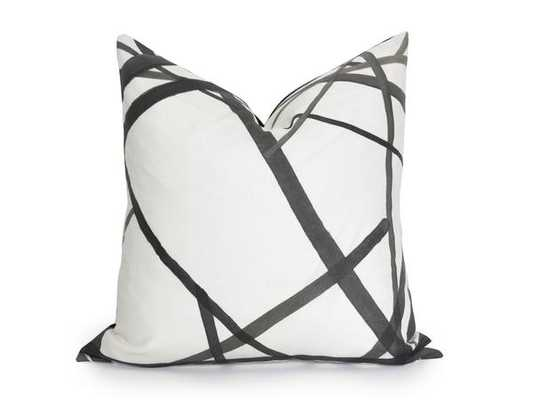 Channels Pillow Cover - Kelly Wearstler - Ebony - 22x22 - No Insert - Willa Skye