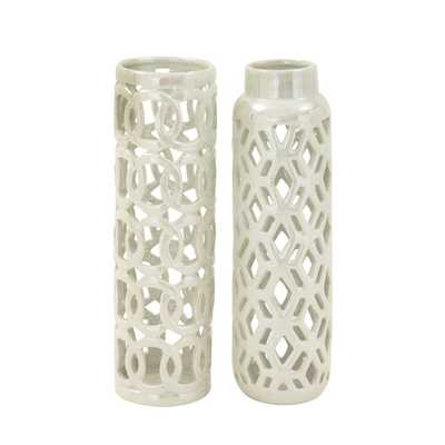 2 Piece Ceramic Vase Set - AllModern
