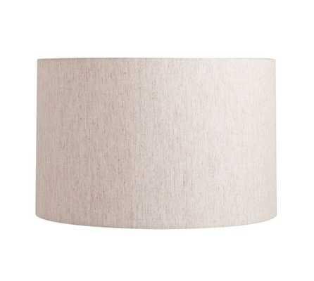 Straight Sided Linen Drum Lamp Shade, Medium, Flax - Pottery Barn