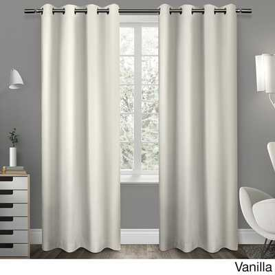 "Sateen Twill Weave Insulated Blackout Curtain Panel (Pair) - 96""L - Overstock"