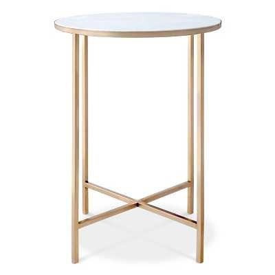 "Marlton End Table Gold - Thresholdâ""¢ - Target"