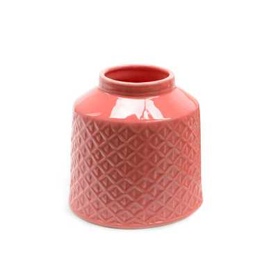 "Basic Luxury Porcelain Vase - Salmon Pink, 5""H - Wayfair"