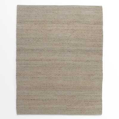 Jute Chenille Herringbone Rug – Natural/Platinum - 8' x 10' - West Elm