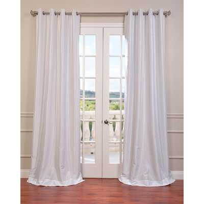 EFF Textured Dupioni Faux Silk 96-inch Blackout Grommet Curtain Panel - Overstock
