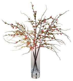 Cherry Blossom in Vase, Faux - One Kings Lane