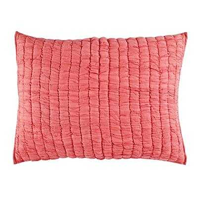 """Go Lightly Quilted Sham (Pink)-  20""""Wx26""""H-Insert inculded - Land of Nod"""