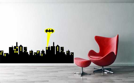 Gotham city skyline batman decal - 65cmx30cm / same as shown - Etsy