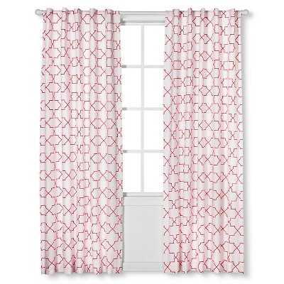 Sabrina Soto Calypso Curtain Panels- 84''-coral - Target