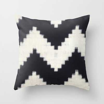 "Black and Cream Boho Pillow, 18""Sq, Insert sold separately - Etsy"