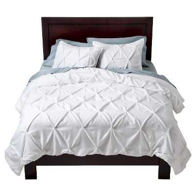 Pinched Pleat Comforter Set - White - Full/Queen - Target