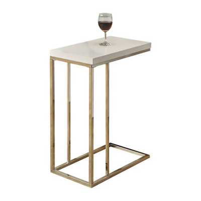 Casey End Table - Glossy White - Wayfair